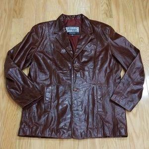 Vintage 70s Pelle Studio Leather Blazer Jacket